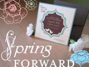 Paper Panache spring invitations