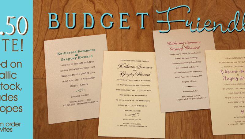 Budget Friendly Invitations!