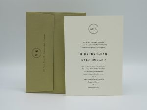 Circle Wedding Invitation