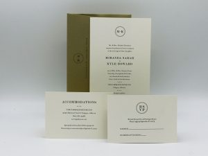 Circle Wedding Invitation Sample Set