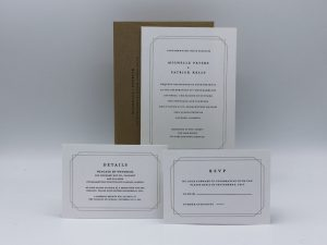 Double Frame Wedding Invitation Sample Set