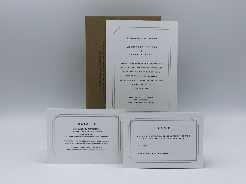 Double Frame Wedding Invitation Sample-Paper Panache Invitations