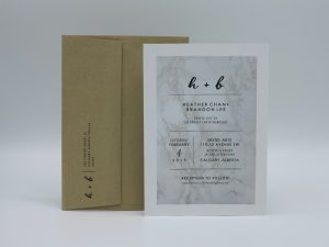 Marble Invitation With Return Addressing