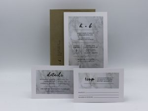 Marble Wedding Invitation Sample Set