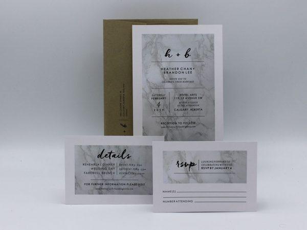 Marble Wedding Invitation Sample Set