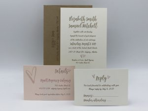 Hearts Wedding Invitation Sample Set