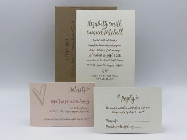 Hearts Wedding Invitation Sample Set