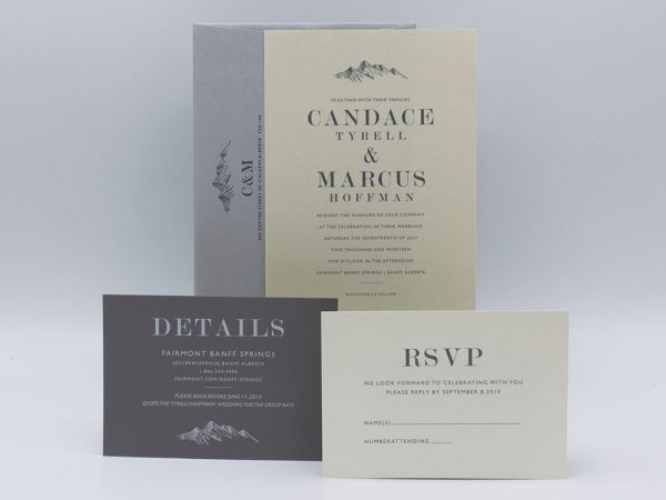 Mountains Wedding Invitation Sample Set