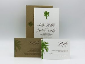 Palm Wedding Invitation Sample Set
