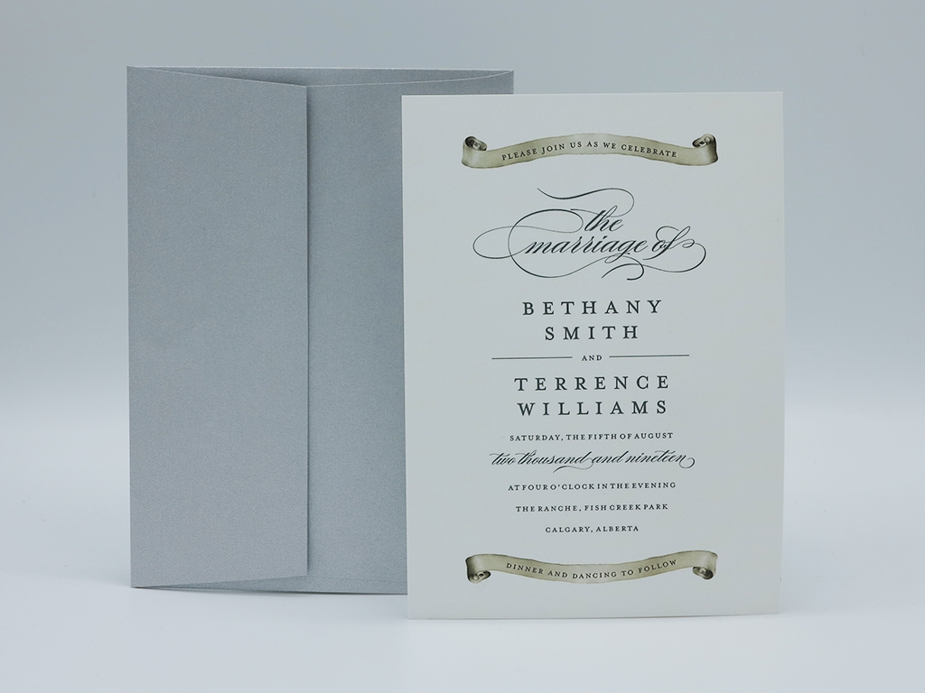 scroll wedding invitation paper panache invitations and design