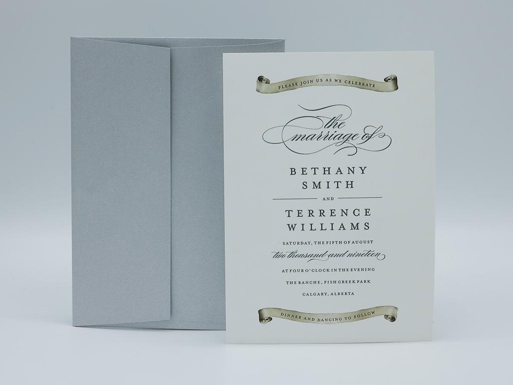 Scroll Wedding Invitation - Paper Panache Invitations and Design