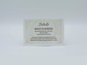 Wood Details Card