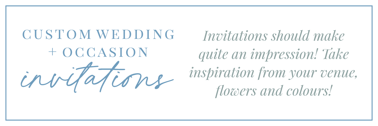 Occasion Invitations Feature