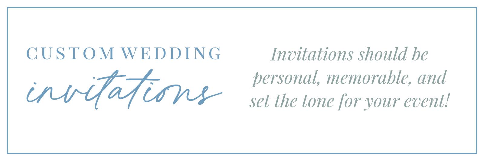 Custom Wedding Invitations Feature